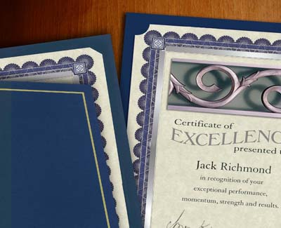 Certificate Jackets and Holders
