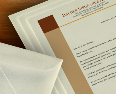 25% Cotton Business Papers and Envelopes