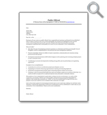 Career Specific, Public Official Cover Letter